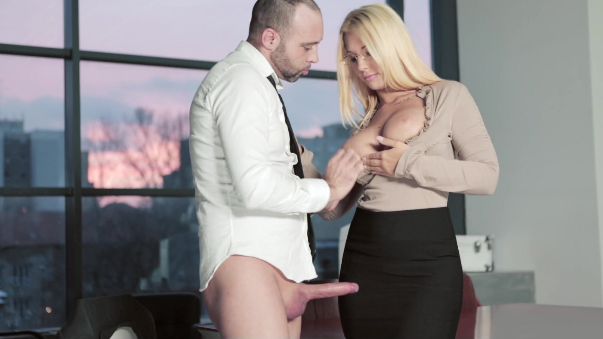 Kyra hot called pablo to fix the printer - 3 part 8